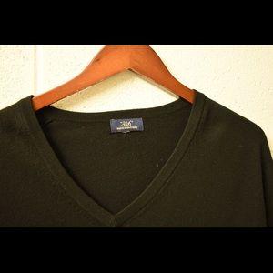 Black Brooks Brothers V-Neck Sweater